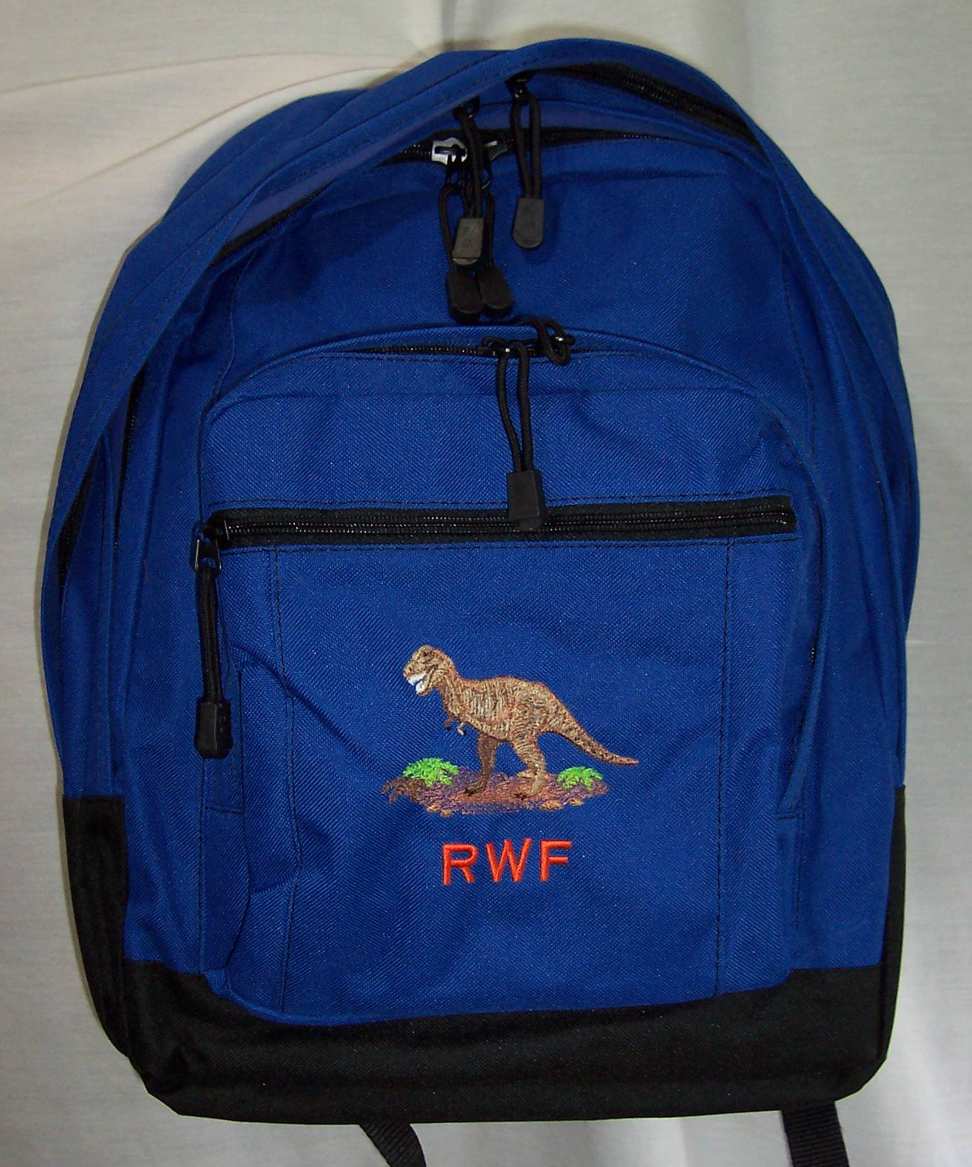 stegosaurus dinosaur backpack school book bag personalized
